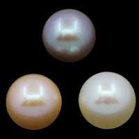No Hole Cultured Freshwater Pearl Beads, Round, natural, more colors for choice, Grade AAA, 8-9mm, Sold By PC