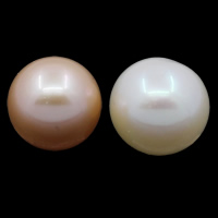 No Hole Cultured Freshwater Pearl Beads, Round, natural, more colors for choice, Grade AAA, 11-12mm, Sold By PC
