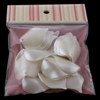 Tworzywa ABS perła Wisiorek, Liść, biały, 29x40x10mm, 100x170mm, otwór:około 2mm, 20komputery/torba, sprzedane przez torba