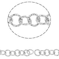 Łańcuch ze stali nierdzewnej Rolo, Stal nierdzewna, okrągłe ogniwa łańcucha, oryginalny kolor, 7x1mm, 10m/torba, sprzedane przez torba