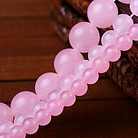 Pink Calcedony Beads, Round, different size for choice, Sold By Lot