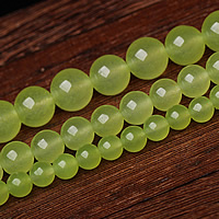 Green Calcedony Beads, Round, different size for choice, Sold By Lot