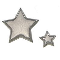 сеттинг для кабошона из нержавеющей, Нержавеющая сталь 304, Звезда, разный размер для выбора, оригинальный цвет, 2000ПК/Лот, продается Лот