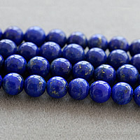 Natural Lapis Lazuli Beads, Round, different size for choice, Sold By Lot