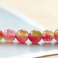 Tourmaline Beads, Round, October Birthstone & different size for choice, Sold By Lot
