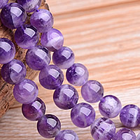 Natural Amethyst Beads, Round, February Birthstone & different size for choice, Sold By Lot