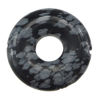 Natural Snowflake Obsidian Beads, Flat Round, 32x6mm, Hole:Approx 1.5mm, 5PCs/Lot, Sold By Lot
