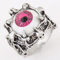 Resin Finger Ring Zinc Alloy with Resin Eye antique silver color plated lead   cadmium free 17mm US Ring Size:6.5