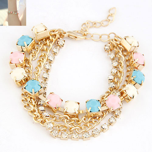 Buy Zinc Alloy Bracelet 5cm extender chain gold color plated twist oval chain & rhinestone lead & cadmium free 180x8mm Sold Per Approx 7.09 Inch Strand