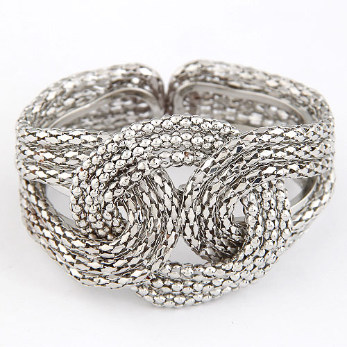 Zinc Alloy Bangle antique silver color plated lead   cadmium free 75x45mm Inner Diameter:Approx 55mm Length:Approx 6.5 Inch