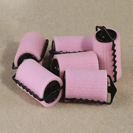 пластик волосы бигуди, с Губка, Столбик, розовый, 65x35mm, продается PC