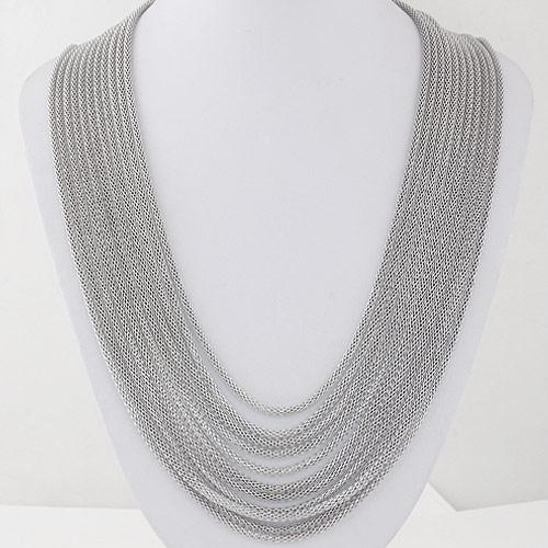 Ожерелья из металла, Железо, Платиновое покрытие платиновым цвет, многонитевая, не содержит свинец и кадмий, 450mm, Продан через Приблизительно 17.72 дюймовый Strand
