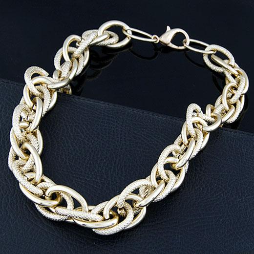 Железо Ожерелье цепь, плакирован золотом, веревки цепи, не содержит свинец и кадмий, 500x20mm, Продан через Приблизительно 19.69 дюймовый Strand
