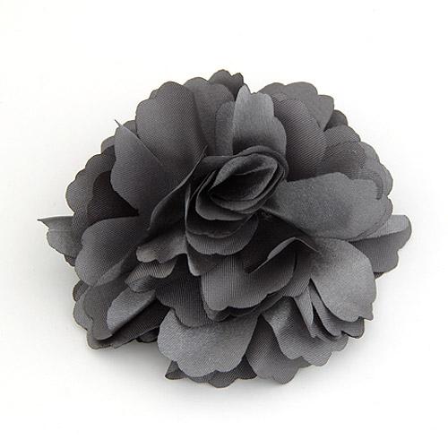 Цветок волос клип Брошь, цинковый сплав, с ткань, Форма цветка, не содержит свинец и кадмий, 72x72mm, продается PC