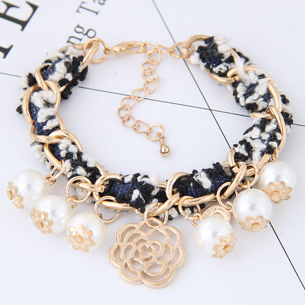 Buy Zinc Alloy Bracelet Wool gold color plated lead & cadmium free 180x18mm Sold Per 7.09 Inch Strand