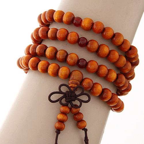 Деревянные браслеты, деревянный, 4-стренги, 720x8mm, Продан через Приблизительно 28.35 дюймовый Strand