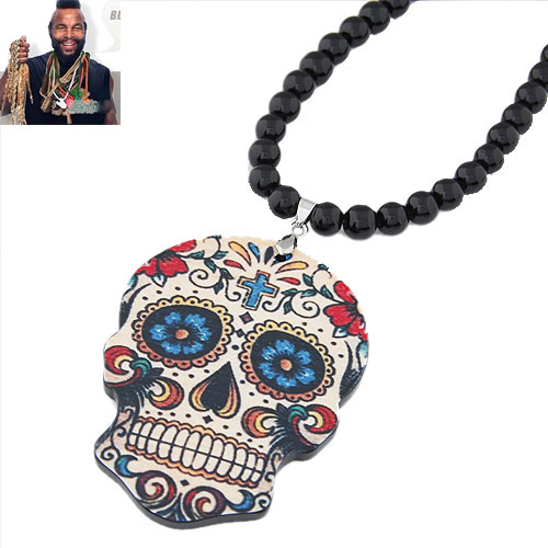 Acrylic Sweater Necklace, Skull, 800x78x56mm, Sold Per Approx 31.5 Inch Strand