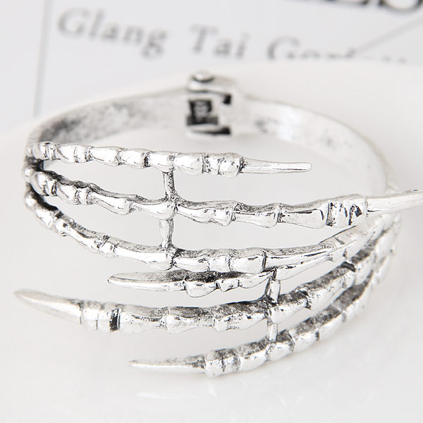 Zinc Alloy Bangle antique silver color plated lead   cadmium free 55mm Inner Diameter:Approx 55mm Length:Approx 6.5 Inch