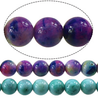 Jade Rainbow Beads Round 8mm Hole:Approx 1mm Length:Approx 16 Inch 10Strands/Lot 50PCs/Strand
