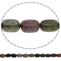 Natuurlijke Crackle Agaat parels, Kolom, multi-gekleurde, 12x16mm, Gat:Ca 1mm, Lengte:Ca 15 inch, 10strengen/Lot, Ca 23pC's/Strand, Verkocht door Lot