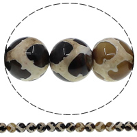 Natural Tibetan Agate Dzi Beads, Round, different size for choice, Hole:Approx 1mm, Length:Approx 15 Inch, Sold By Lot