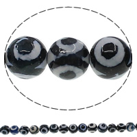 Natural Tibetan Agate Dzi Beads, Round, faceted, 8mm, Hole:Approx 1mm, Length:Approx 15 Inch, 10Strands/Lot, Approx 48PCs/Strand, Sold By Lot
