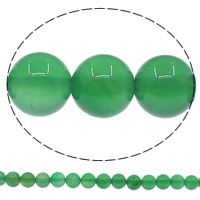 Natural Green Agate Beads, Round, different size for choice, Grade A, Hole:Approx 1mm, Length:Approx 15 Inch, Sold By Lot