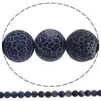 Natuurlijke Effloresce Agaat kralen, Ronde, 10mm, Gat:Ca 1mm, Lengte:Ca 15 inch, 10strengen/Lot, Ca 38pC's/Strand, Verkocht door Lot