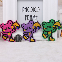 Iron on Patches, Cloth, Frog, more colors for choice, 63x68mm, 200PCs/Lot, Sold By Lot