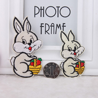 Iron on Patches, Cloth, Rabbit, different size for choice, Sold By Lot
