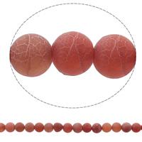 Natuurlijke Effloresce Agaat kralen, Ronde, meer kleuren voor de keuze, 8mm, Gat:Ca 1mm, Ca 48pC's/Strand, Per verkocht Ca 14.2 inch Strand