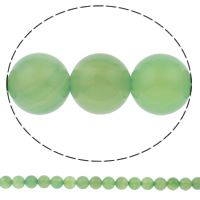 Natural Green Agate Beads, Round, 10mm, Hole:Approx 1mm, Approx 38PCs/Strand, Sold Per Approx 15.7 Inch Strand
