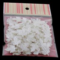 Tworzywa ABS perła Wisiorek, Liść, biały, 18x24x2mm, 100x170mm, otwór:około 0.5mm, 100komputery/torba, sprzedane przez torba