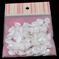Tworzywa ABS perła Wisiorek, Liść, biały, 13x18x2mm, 100x170mm, otwór:około 1mm, 100komputery/torba, sprzedane przez torba