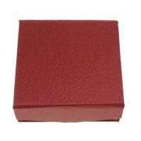 Kartonowe pudełko na bransoletkę, Tektura, ze Welwet, Prostokąt, czerwony, 95x93x35mm, 50komputery/wiele, sprzedane przez wiele
