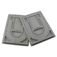 Bead Design Board, Plastic, different packing style for choice & mixed, grey, 240x325x15mm, Sold By Lot