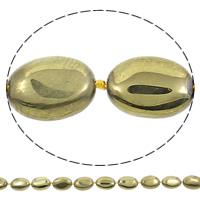 Vergulde Agaat parels, Ovaal, gold plated, 15x20x7mm, Gat:Ca 1mm, Lengte:Ca 15.5 inch, 5strengen/Bag, Ca 18pC's/Strand, Verkocht door Bag
