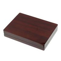 Drewniane pudełko na naszyjnik, Drewno, ze Welwet, Prostokąt, Malowane, brązowy, 140x190x36mm, sprzedane przez PC