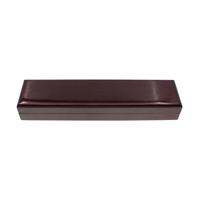 Drewniane pudełko na naszyjnik, Drewno, ze Welwet, Prostokąt, Malowane, ciemnoczerwony, 240x58x33mm, 5komputery/torba, sprzedane przez torba