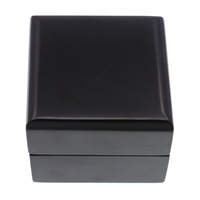 Wood Ring Box, with Velveteen, Square, painted, black, 60x48mm, 5PCs/Bag, Sold By Bag