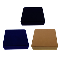 Velveteen Necklace Box, with Cardboard, Square, more colors for choice, 195x45mm, 10PCs/Bag, Sold By Bag