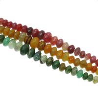 Natuurlijke Crackle Agaat parels, Rondelle, afgestudeerd kralen & gefacetteerde, meer kleuren voor de keuze, 12x7mm-22x13mm, Gat:Ca 1mm, Ca 43pC's/Strand, Per verkocht Ca 15 inch Strand