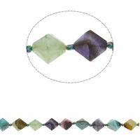 Natural Crackle akaatti helmiä, Bicone, kasvot, sekavärit, 18x16mm, Reikä:N. 1mm, N. 21PC/Strand, Myyty Per N. 17.3 tuuma Strand