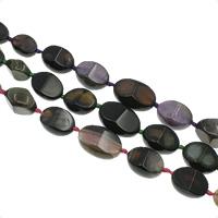 Natuurlijke Crackle Agaat parels, afgestudeerd kralen & gefacetteerde, 10x14x7mm-20x30x15mm, Gat:Ca 1mm, Ca 21pC's/Strand, Per verkocht Ca 18.1 inch Strand