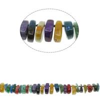 Natuurlijke Crackle Agaat parels, gemengde kleuren, 17x22x11mm-20x32x12mm, Gat:Ca 1mm, Ca 45pC's/Strand, Per verkocht Ca 20 inch Strand