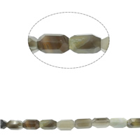 Grey Agate Beads, faceted, 10x29mm, Hole:Approx 1mm, Approx 54PCs/Strand, Sold Per Approx 16.1 Inch Strand