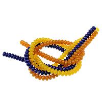Koraliki z żywicy imitujące bursztyn, żywica, Okrąg, imitacja bursztynu, mieszane kolory, 5x8mm, otwór:około 1mm, długość:około 15.5 cal, 10nici/wiele, około 79komputery/Strand, sprzedane przez wiele