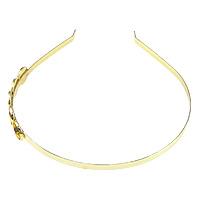 Ободок для волос, Латунь, плакирован золотом, не содержит никель, свинец, 5mm, 14mm, внутренний диаметр:Приблизительно 12mm, длина:Приблизительно 15 дюймовый, 10ПК/Лот, продается Лот
