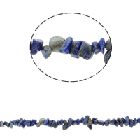 Gemstone Chips, Natural Lapis Lazuli, 5-8mm, Hole:Approx 0.8mm, Approx 260PCs/Strand, Sold Per Approx 33.8 Inch Strand