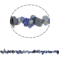 Natural Blue Spot Stone Beads, Nuggets, 5-8mm, Hole:Approx 0.8mm, Approx 260PCs/Strand, Sold Per Approx 33 Inch Strand